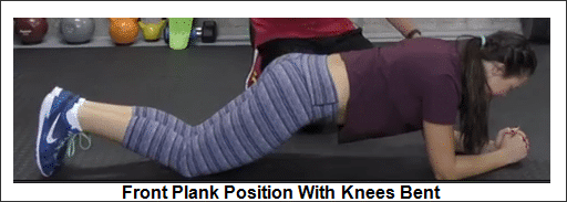 modified-short-front-plank-position-with-knees-bent
