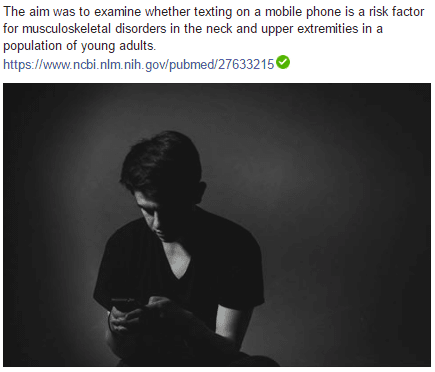 The aim was to examine whether texting on a mobile phone is a risk factor for musculoskeletal disorders in the neck and upper extremities in a population of young adults.