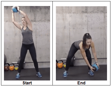 Medicine Ball High-to-Low Chop