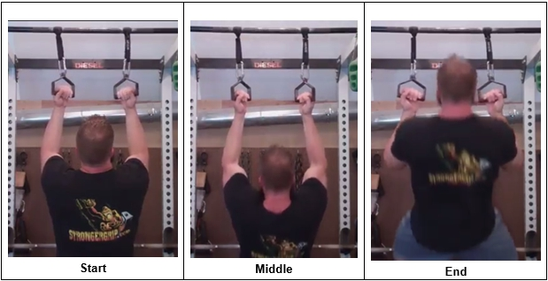 Chin Ups using handles