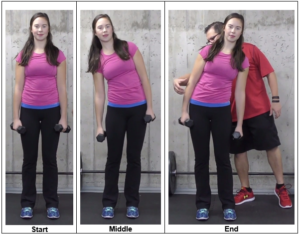 Side Shrugs With Weights