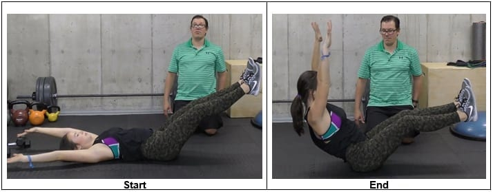Regression: Bicycle Crunches Without Twisting Movement