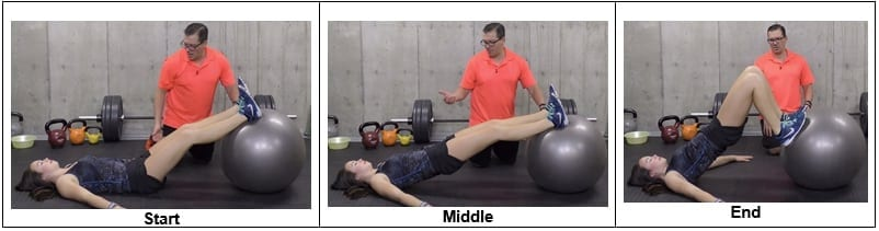Hamstring Curl with a Stability Ball