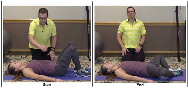 Supine Hip Abductor Stretch