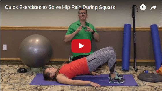 YT vid – Quick Exercises to Solve Hip Pain During Squats