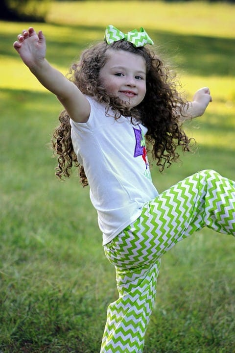 Little Smiling Outdoor Cute Girl Kid Happy Young