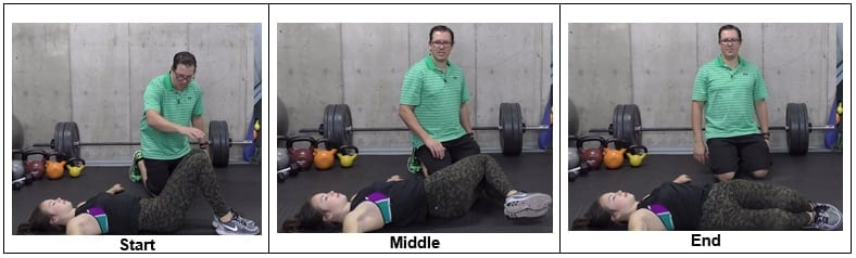 Double Knee Side-to-Side Exercise
