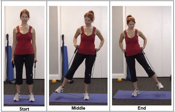 Hip Abductors With Band