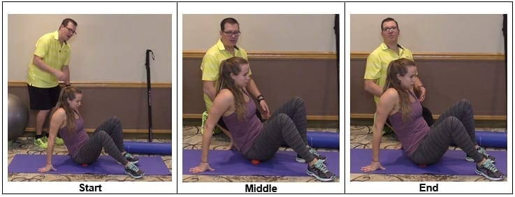 Hip Joint Exercise With a Ball
