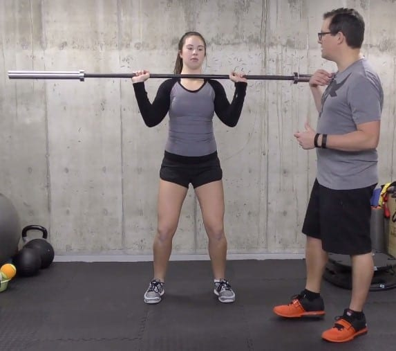 Rest the Bar Near the Shoulders and Chest