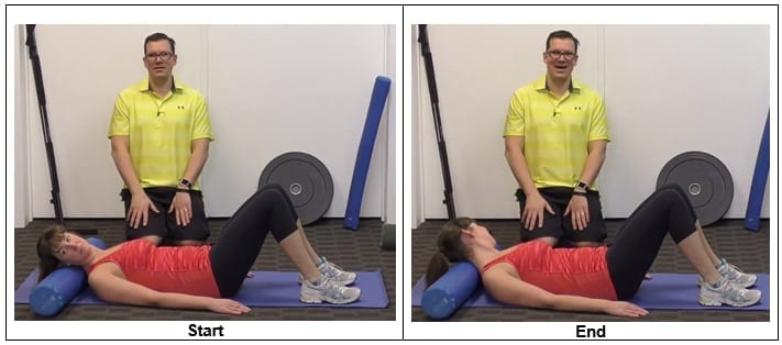 Rotate Head Side to Side with Foam Roller