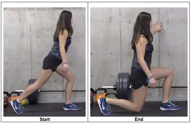 Static Lunge on the Wall