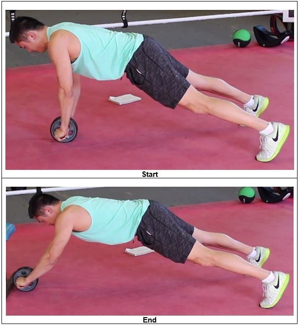 Assisted Elevated Ab Wheel Roll – Out