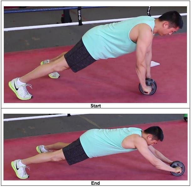 Elevated Ab Wheel Roll-Out