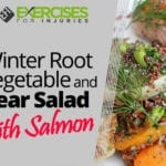 Winter Root Vegetable and Pear Salad with Salmon