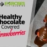 Healthy Chocolate Covered Strawberries