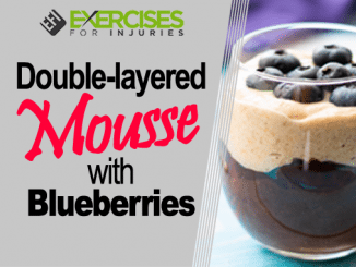 Double Layered Mousse with Blueberries