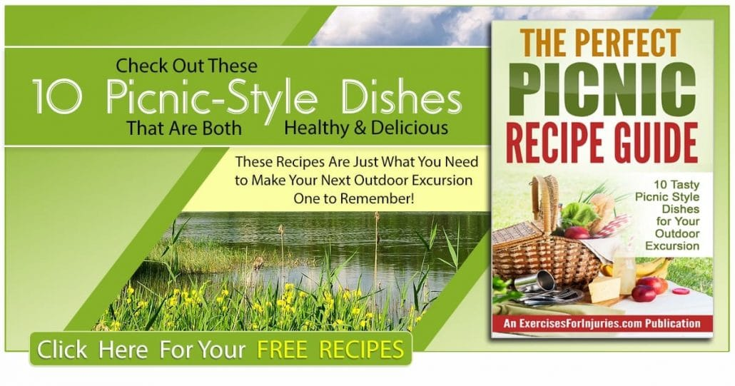 Promotional Blog Graphic for The Perfect Picnic Recipe Guide (Canada Day Cookbook)