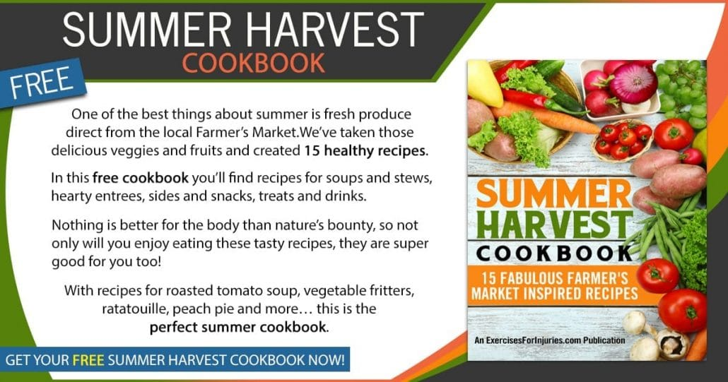 Promotional Blog Graphic for Summer Harvest Cookbook