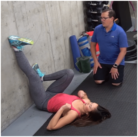 Hamstring Stretch on the Wall