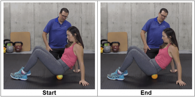 Tennis Ball Into the Glutes