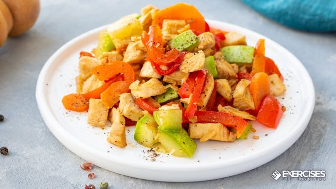chicken stir-fry with peppers and onions