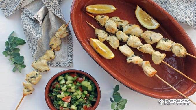 Chicken souvlaki 7