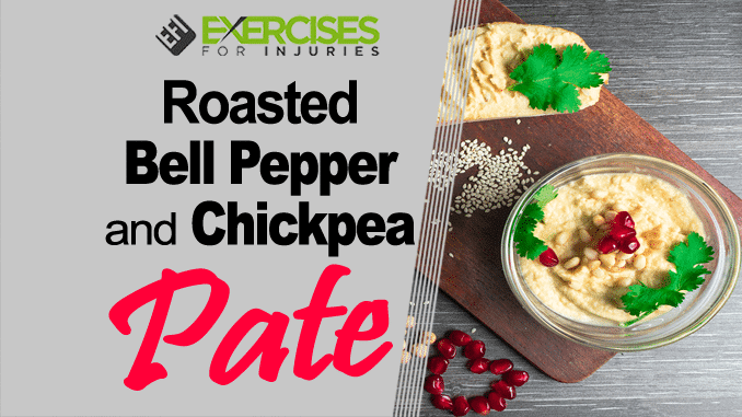 Roasted Bell Pepper and Chickpea Pate