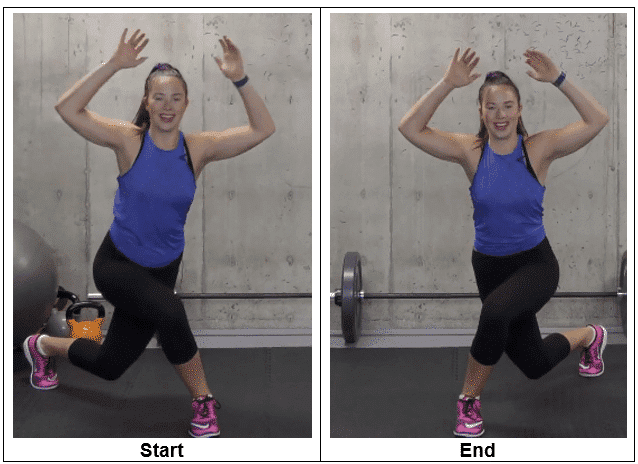 Curtsy Lunges With Arms