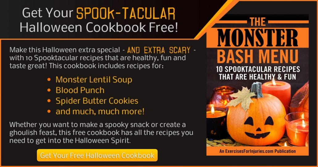 Promotional Blog Graphic for Halloween Cookbook