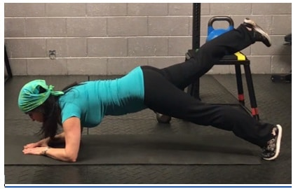 Elbow Plank With Leg Raise