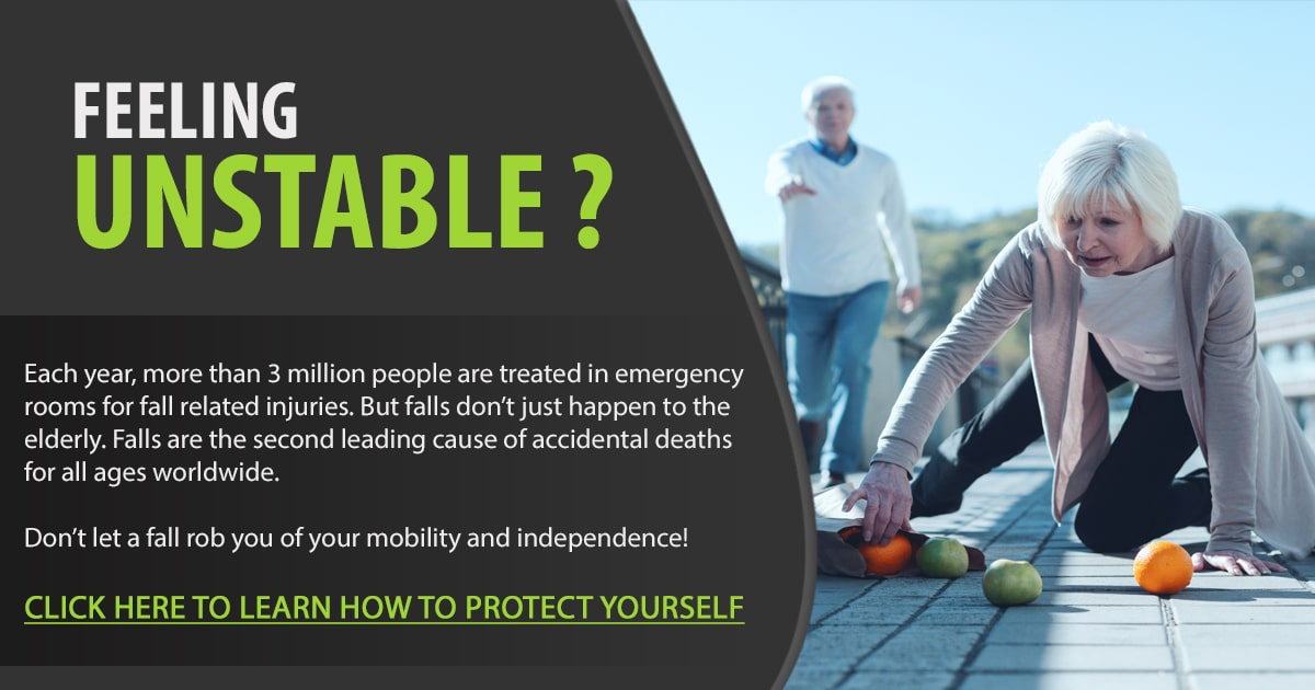 Promotional Blog Graphic for 10 Easy Movements to Prevent Falls