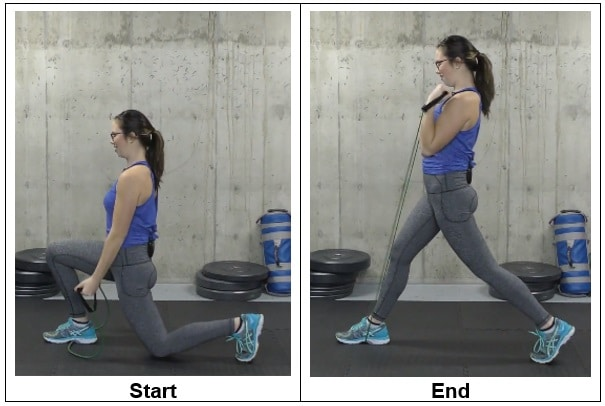 Reverse Lunge to Curl