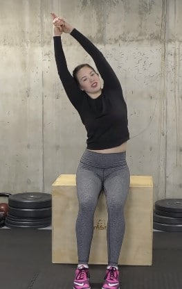 Seated Half-moon Stretch