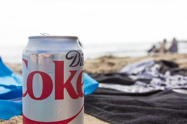 beach-soda-diet-coke-ocean-sand