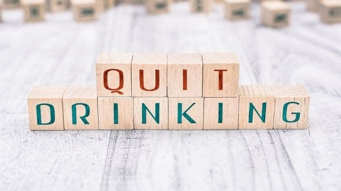 The-Words-Quit-Drinking-Formed