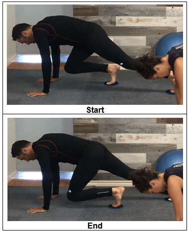 mountain climbers - fitness sliders