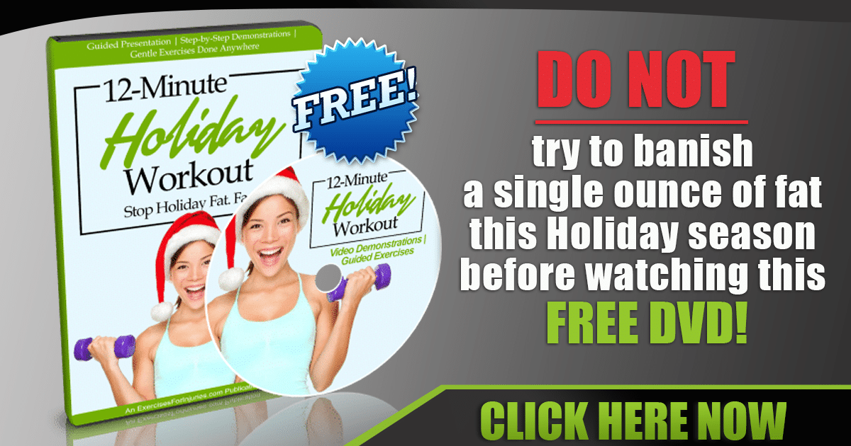 Promotional Blog Graphic for 12 Minute Holiday Workout