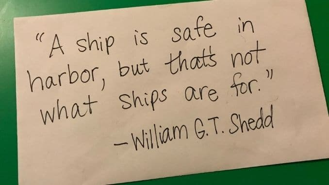 a ship is safe