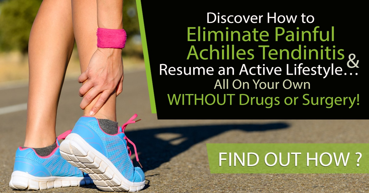 Promotional Blog Graphic for Achilles Tendinitis Exercise Solution