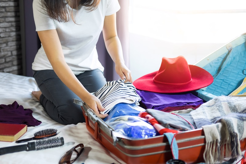 pack ahead of your vacation