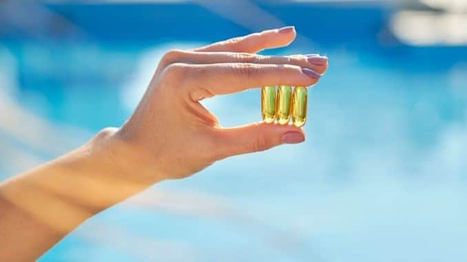 Vitamin D E A fish oil capsules