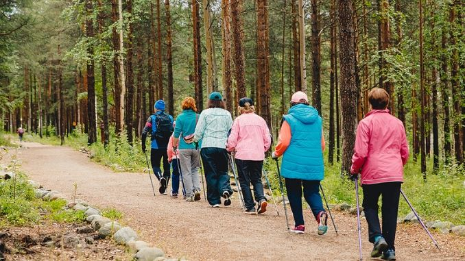 Older women go Nordic walking