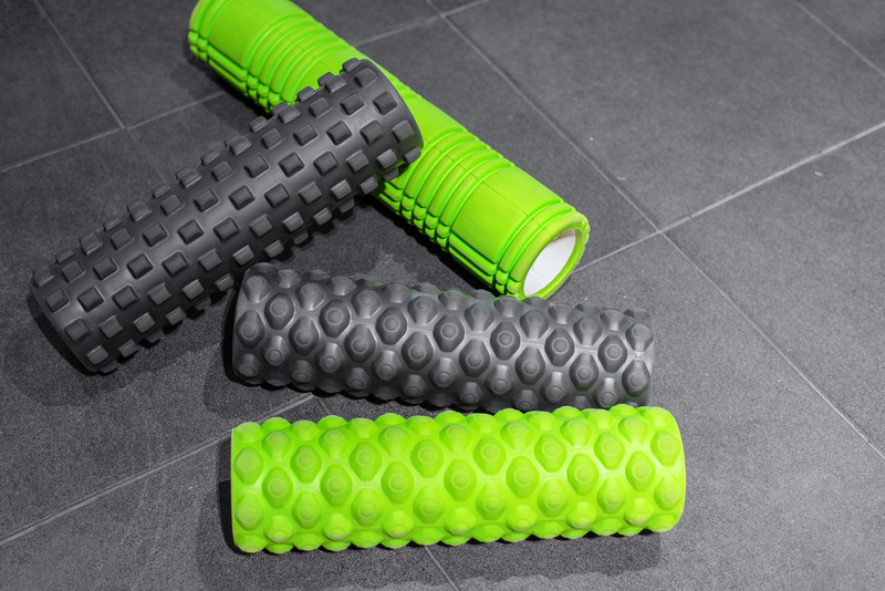 Four foam rollers for massage