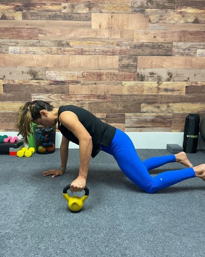 Plank from Knees Position 2