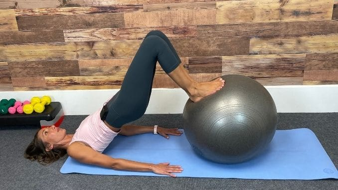 Stability Ball Hamstring Rollouts 2